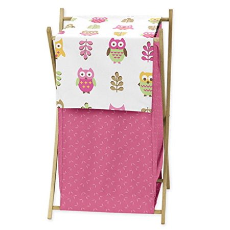 Baby/Kids Clothes Laundry Hamper for Pink Happy Owl Bedding by, Dimensions: 26.5in. x 15.5in. x 16in. By Sweet Jojo Designs