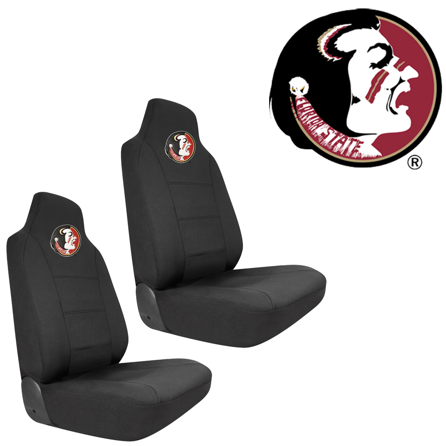 Front Bucket Seat Covers - FSU Florida State University Seminoles - Pair