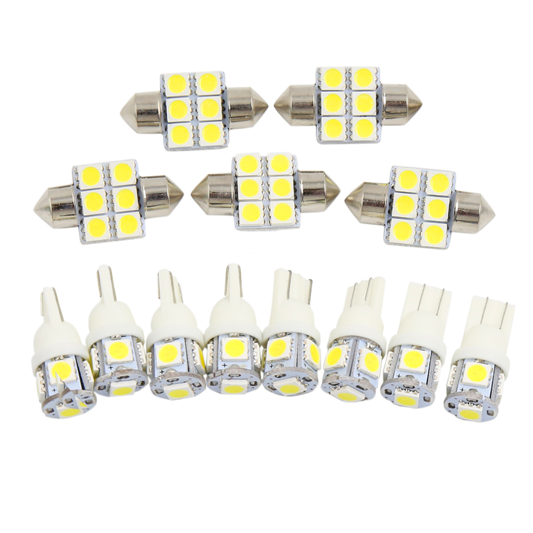 13PCS White Car Dome Map  Lights Interior Package Kit For  Camry 2012+