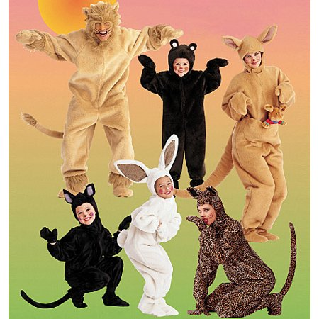 McCall's Adults' and Kids' Animal Costumes, (XL) - Anime Costumes For Kids