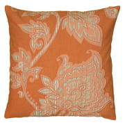 """Rizzy Home Decorative Poly Filled Throw Pillow Floral 11""""X21"""" Orange"""