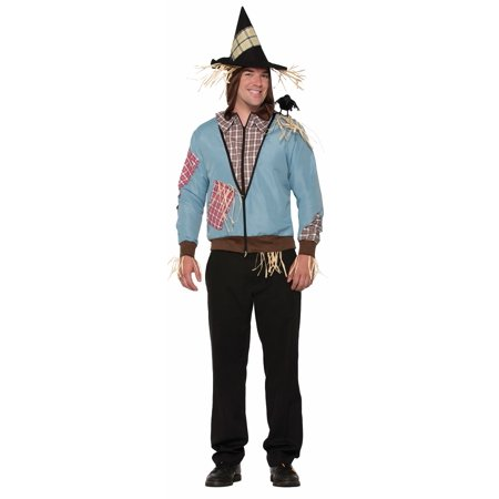 Scarecrow Hoodie With Attached Hat Fall Halloween Adult Costume Accessory - Scarecrow Halloween Costume Pattern
