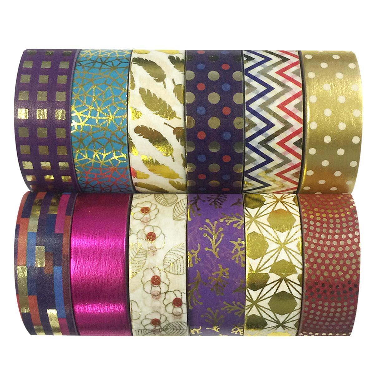 Wrapables® Washi Tapes Decorative Masking Tapes, Set of 12, ADSET64