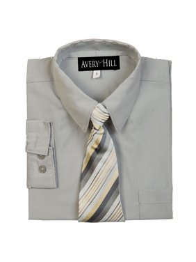 Boys Long Sleeve Dress Shirt with Windsor Tie