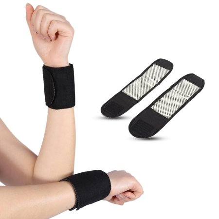 1 Pair Self-heating Magnetic Wrist Support Brace Adjustable Protect Wrap for Working Cycling Running Sports for Men and Women,One Size (Magnetic Support Wrap)
