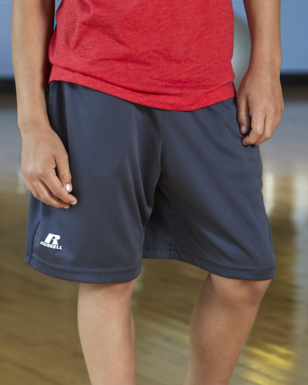 """Russell Athletic Youth 7"""" Essential Pocketed Shorts"""