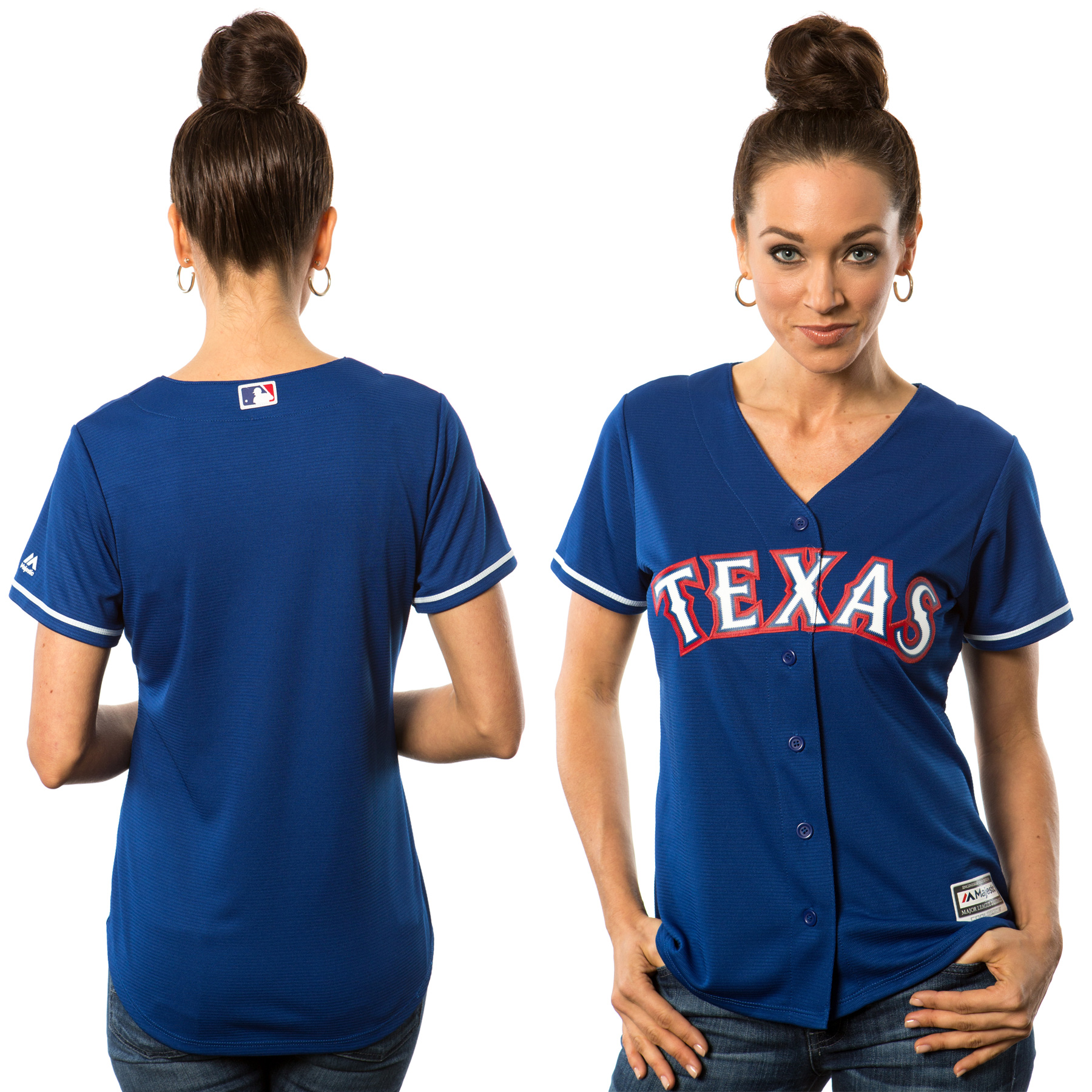 Texas Rangers Majestic Women's Cool Base Jersey - Royal