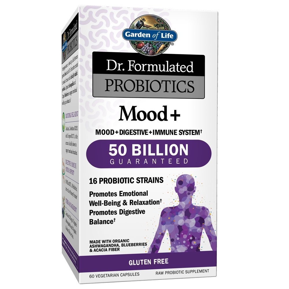 Garden Of Life Dr Formulated Probiotics Mood Acidophilus Probiotic Promotes Emotional Health Relaxation Digestive Balance Gluten Dairy And Soy Free 60 Vegetarian Capsules Shipped Cold Walmart Com Walmart Com