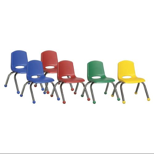"10"" Stack Chairs with Chrome Legs and Ball Glides, 6-Pack"