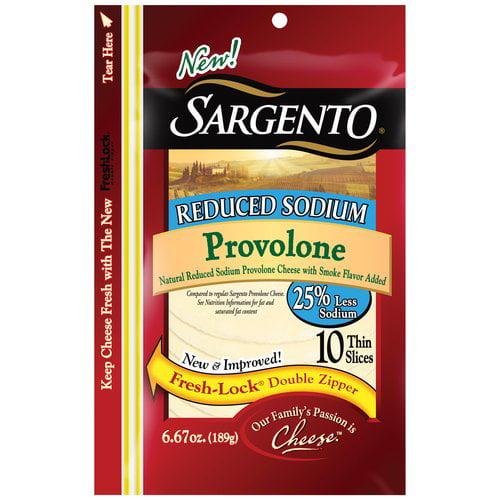Sargento Reduced Sodium Thin Slice Provolone, 10 ct