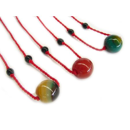 Chinese Jade Bean Necklace for Kid-red jade Red Jade Pendant