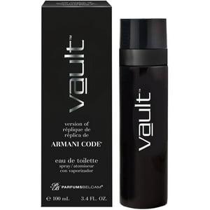Vault, version of Armani Code*, by PB ParfumsBelcam, Eau de Toilette Spray for Men, 3.4 oz