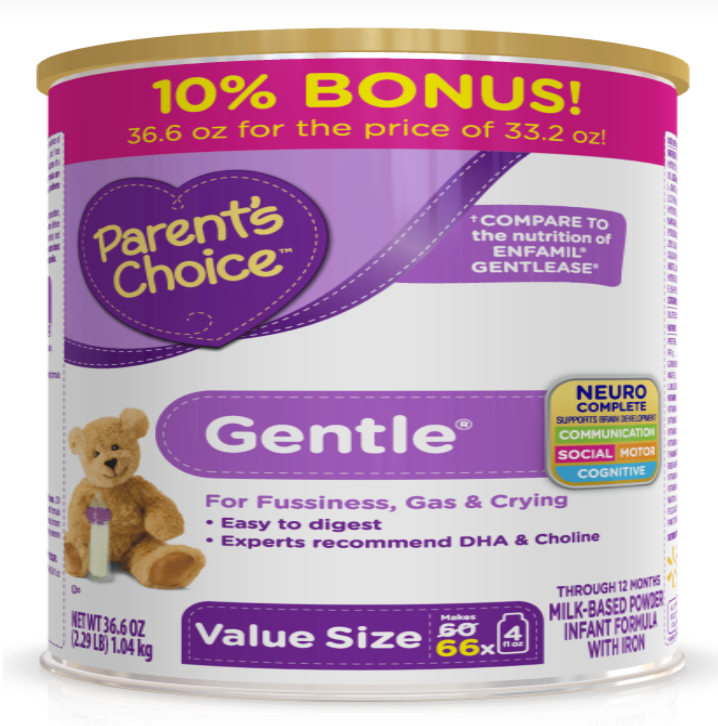 Parent's Choice Gentle Infant Formula with Iron, 33.2 oz