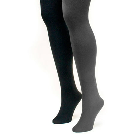 (Women's Fleece Lined 2-Pair Pack Tights)