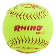 12 in. Softball in Optic Yellow Set of 12 by Champion Sports