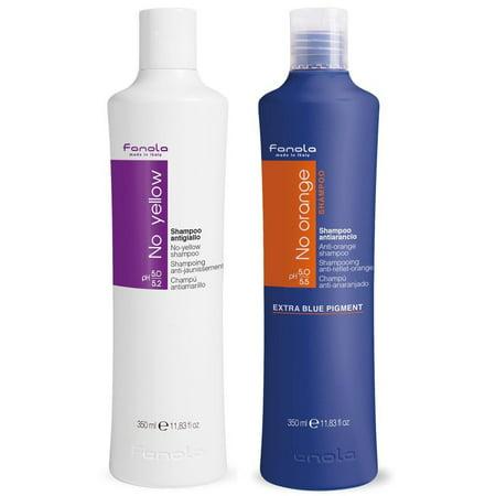Fanola No Yellow and No Orange Shampoo Package, 350