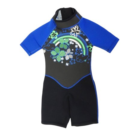 Kiddi Choice Kids 2.5mm Neoprene Short Sleeve Wetsuit Black/Blue, 2 ()