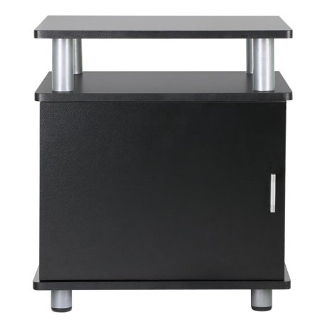 Yaheetech black wood end tables bedroom nightstands for 12 wide bedside table