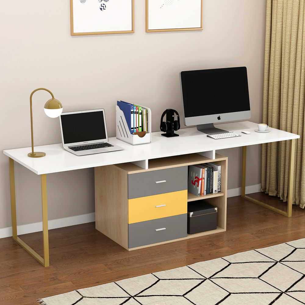 Tribesigns 87 Inches Extra Long Computer Desk for Two ...