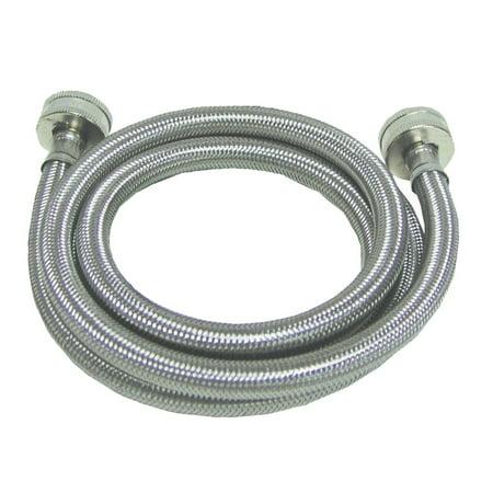 Homewerks Worldwide 7243-72-34-1 3/4 Garden Hose Thread x 3/4 Garden Hose Thread x 72-Inch, Stainless-Steel Washing Mach