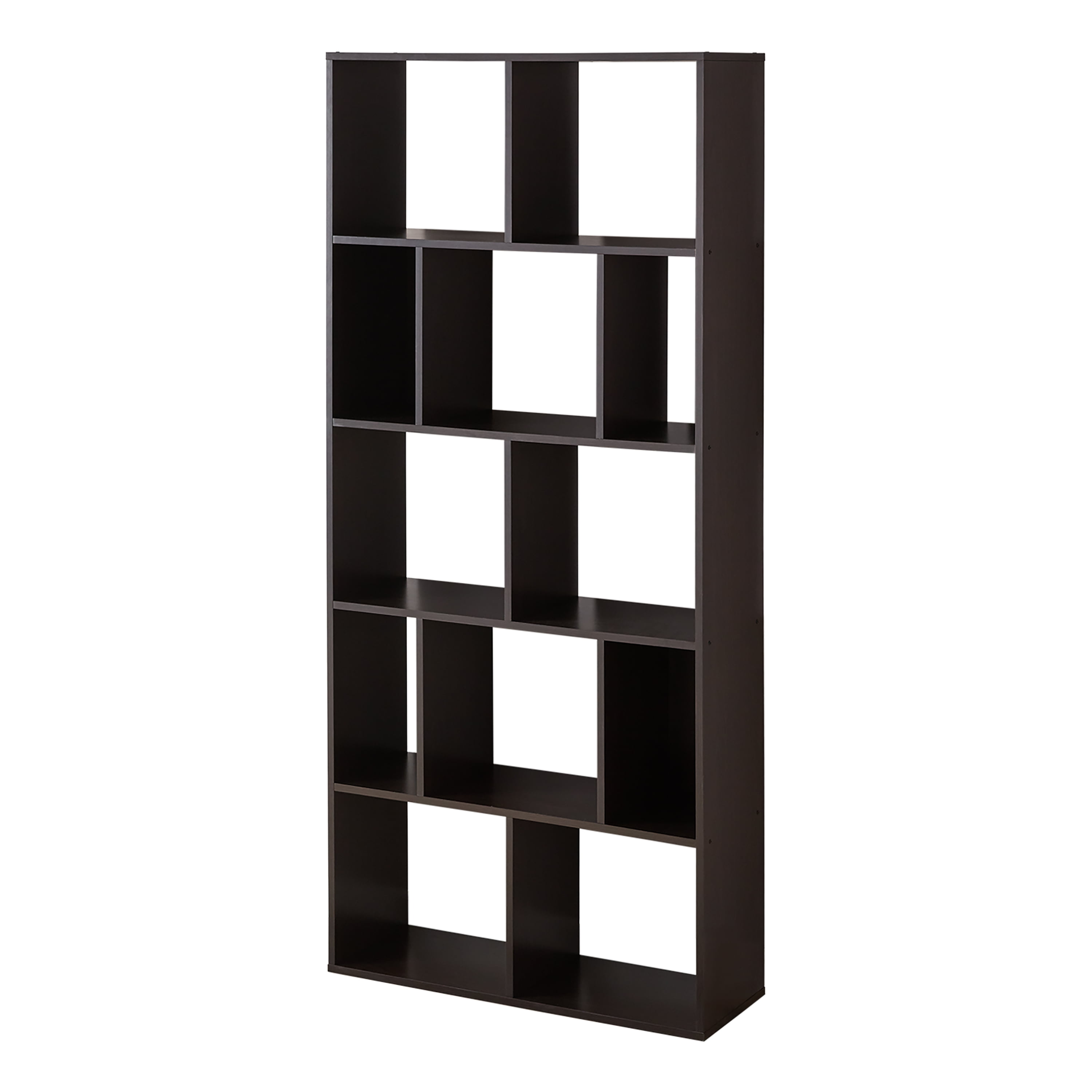 Mainstays 12 Cube Square Shelf Bookcase Black