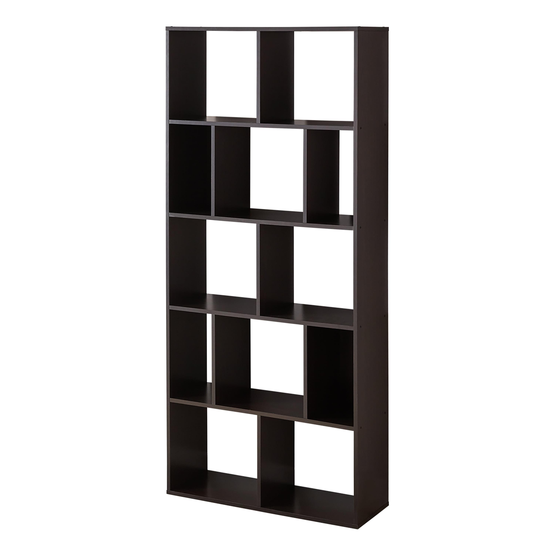 Mainstays 12-Cube Bookcase, White or Espresso