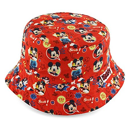 Disney Mickey Mouse Boys' Red Bucket Hat [6014] - Red Bucket Hats