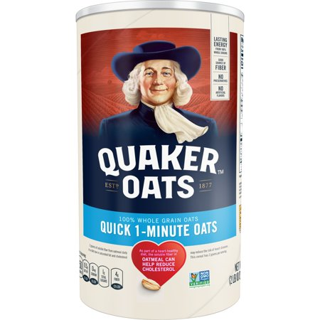 Quaker Oats, Quick 1 - Minute Oatmeal, 42 oz Canister