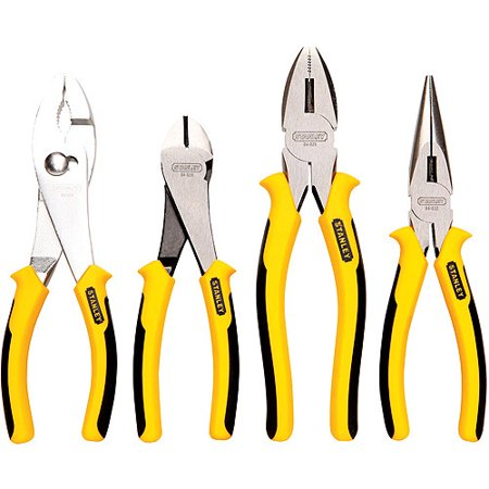 "Stanley 8"" 4-Piece Plier Set"