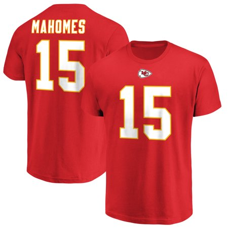 Patrick Mahomes Kansas City Chiefs Majestic Eligible Receiver Name & Number T-Shirt - Red