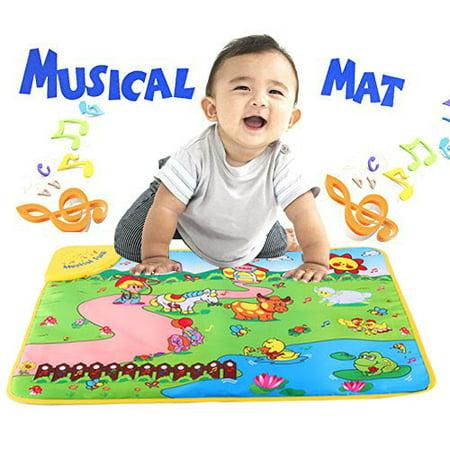Farm Play Carpet - Leapfrog Music Mat Education Music Sound Farm Animal Touch Baby Play Singing Mat Baby Gym Carpet