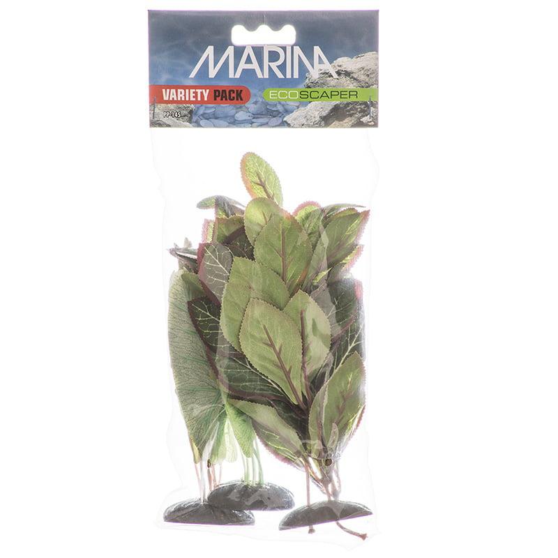 Marina EcoScaper Silk Aquarium Plant Variety Pack Echinodorus, Nuphar Japonica & Lobelia Cardinalis 3 Pack... by Marina