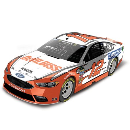 Ryan Blaney Action Racing 2018 #12 DeVilBiss Autographed 1:24 Color Chrome Die-Cast Ford Fusion - No Size