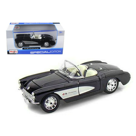 1957 Chevrolet Corvette Black 1/24 Diecast Model Car by - 24 Scale 1957 Chevrolet Corvette