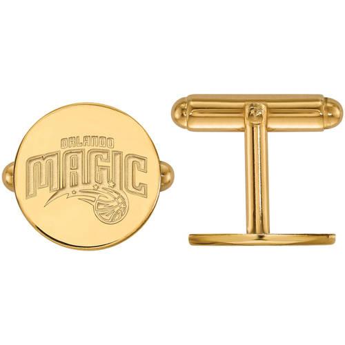 LogoArt NBA Orlando Magic 14kt Yellow Gold Cuff Links