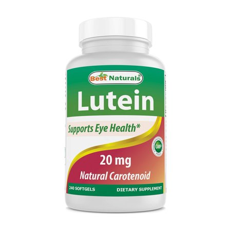 Best Naturals Lutein 20mg with Zeaxanthin, 240