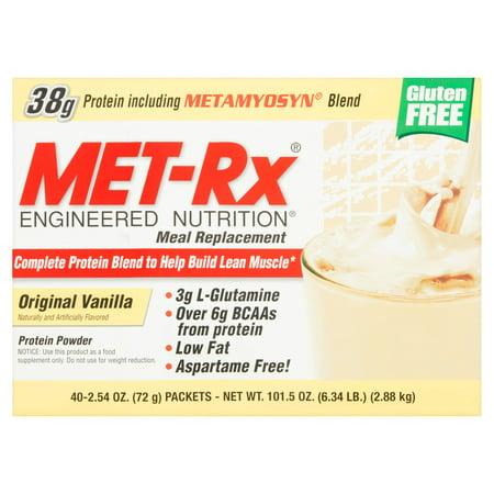 Met Rx Meal Replacement Original Vanilla Protein Powder  2 54 Oz  40 Count