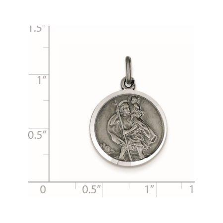 925 Sterling Silver St. Christopher Medal - image 1 de 2