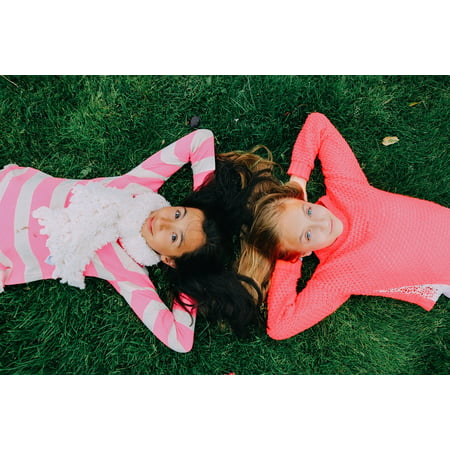 LAMINATED POSTER Teen Childhood Young Best Friends Girls Secret Poster Print 24 x