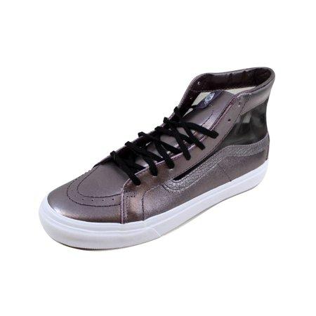 Vans Sk8 Hi White - Vans Men's Sk8 Hi Slim Cutout Mesh Metallic Thistle Purple/True White VN0004KZIG8