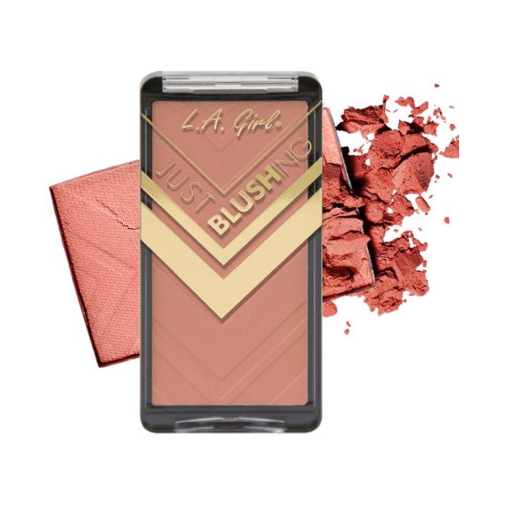 (6 Pack) LA GIRL Just Blushing Powder Blush - Just Natural