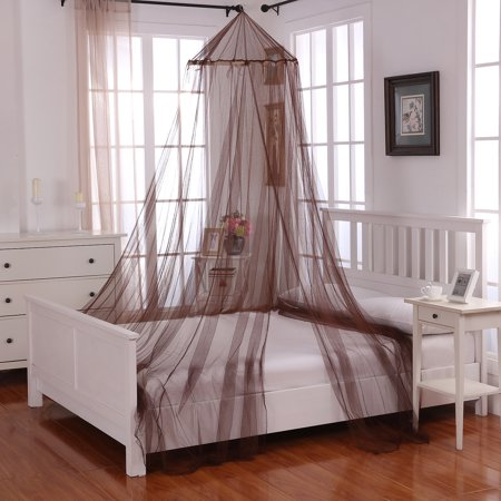 Oasis Round Hoop Sheer Bed Canopy