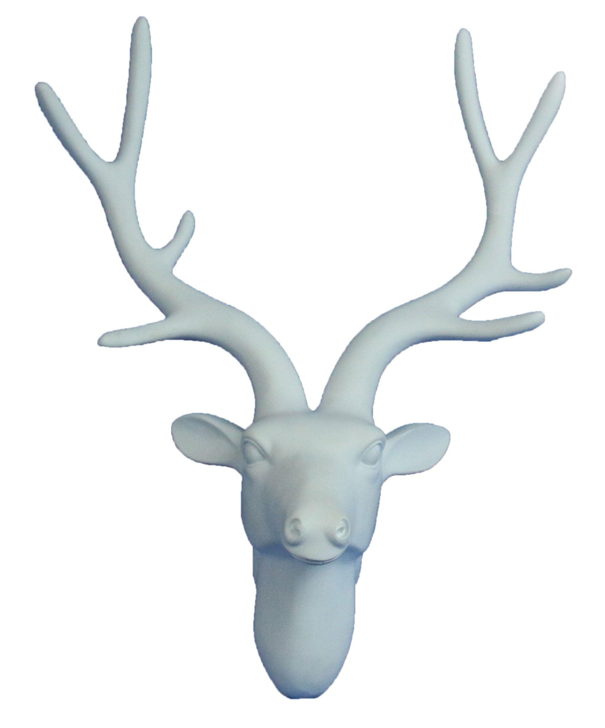 Oh Trendy White Deer Head Wall Mount