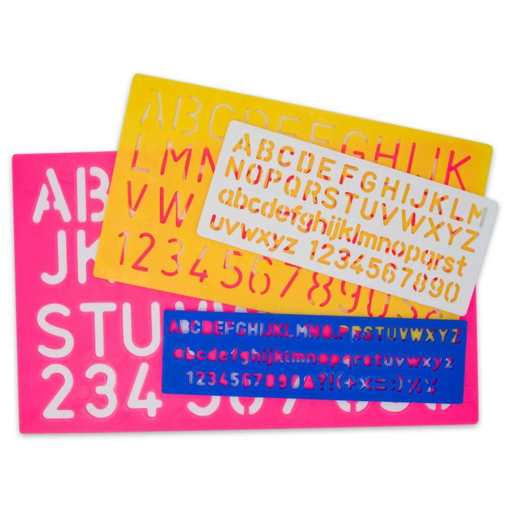 """4pcs SET 1-1//8/"""" Alphabet Letters /& Numbers Stencils Plastic  8 10 20 30mm"""