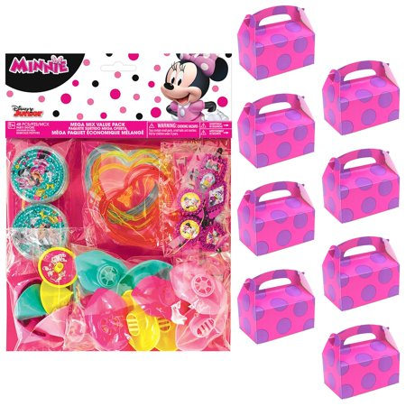 Minnie Mouse Helpers Filled Favor Box Kit (For 8 Guests) (Minnie Decoration Ideas)