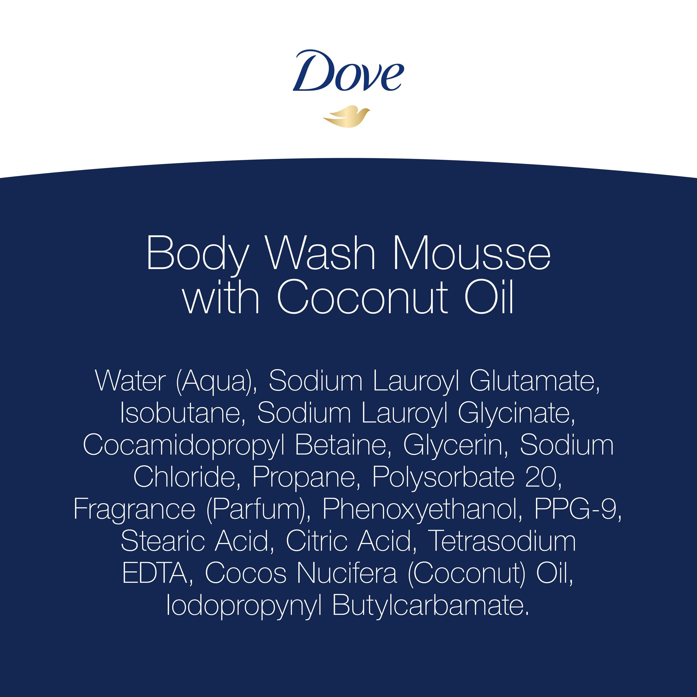 Dove Body Wash Mousse With Coconut Oil 10 3 Oz Walmart Com Walmart Com