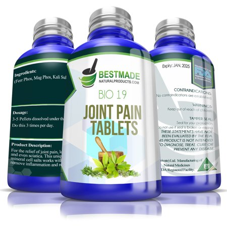 Joint Pain Tablets Bio19, 300 pellets, Pain Relief for Arm & Leg Joints, A Natural Supplement for Sciatica, Arthritis, Rheumatoid Arthritis & Fevers, Helps with Stabbing or Shooting