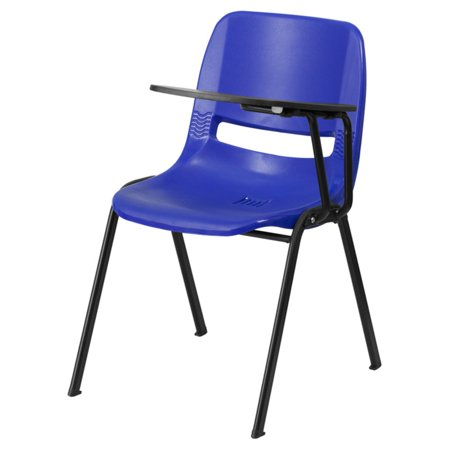 - Flash Furniture Ergonomic Shell Chair with Left-Handed Flip-Up Tablet Arm, Blue