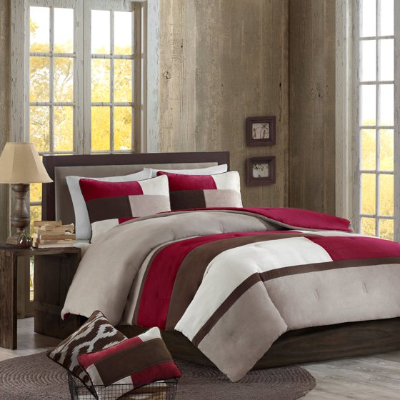 Better homes and gardens microsuede pieced bedding - Better homes and gardens comforter sets ...