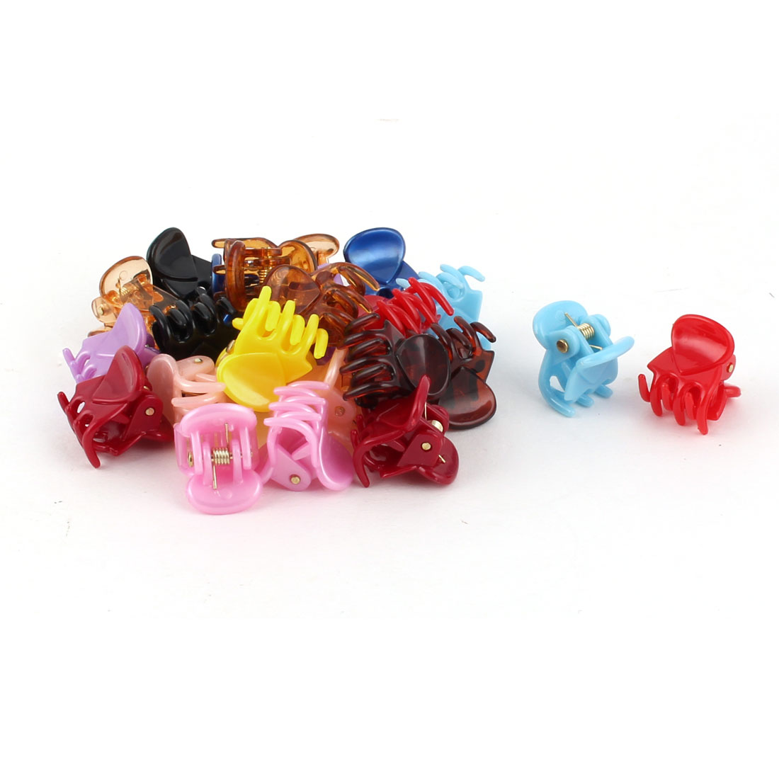 Unique BargainsLady Plastic 6 Claws Hairpin  Hair Claw Clip Clamp Assorted Color 24 PCS